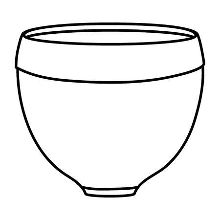 ceramic garden pot decorative icon