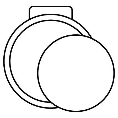 blush make up drawing icon Stock Illustratie
