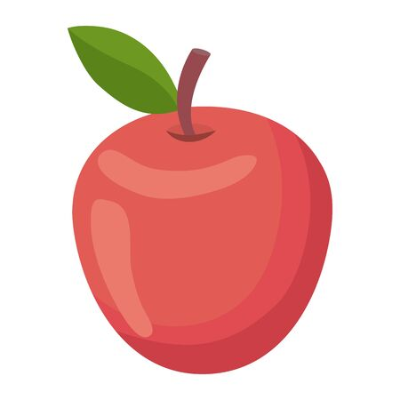 Isolated apple fruit with leaf design vector illustration