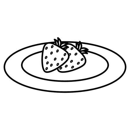 strawberry fresh fruit icon