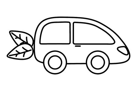 Eco car and save planet design  イラスト・ベクター素材