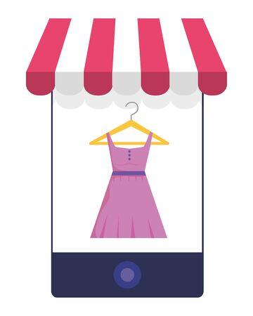 Smartphone and store icon design vector illustration Иллюстрация