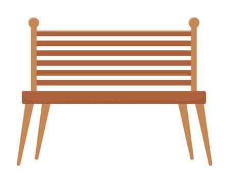 Isolated bench design vector illustrator