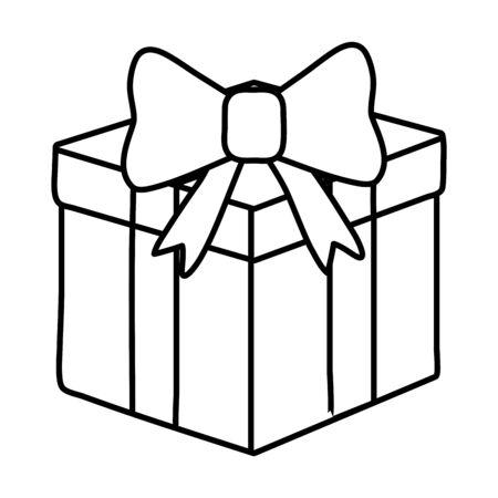 gift box icon black and white