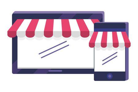 Shopping icon set design vector illustration Иллюстрация