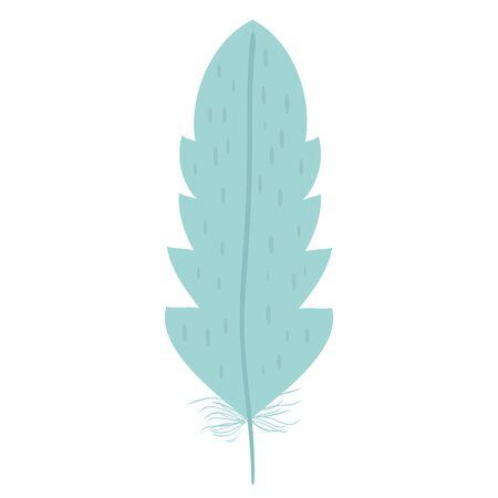 cute bohemian feather decorative icon Ilustração