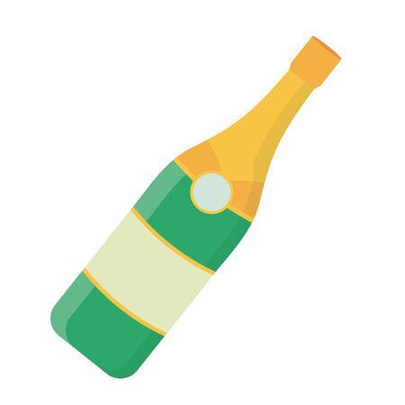Isolated champagne bottle design vector illustrator