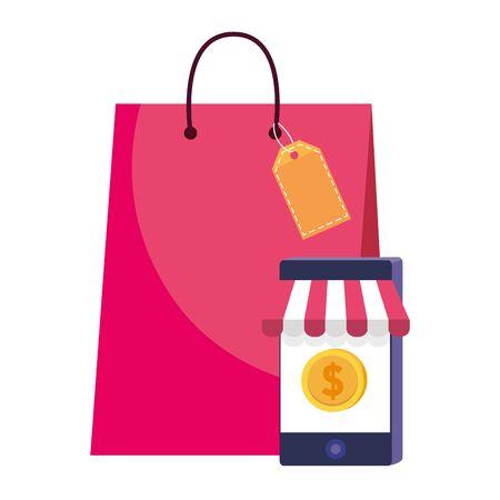 Bag and smarthone icon design