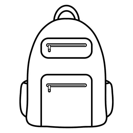 schoolbag supply education isolated icon Иллюстрация