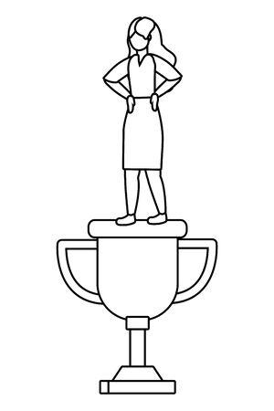 Businesswoman avatar cartoon design vector illustration Çizim