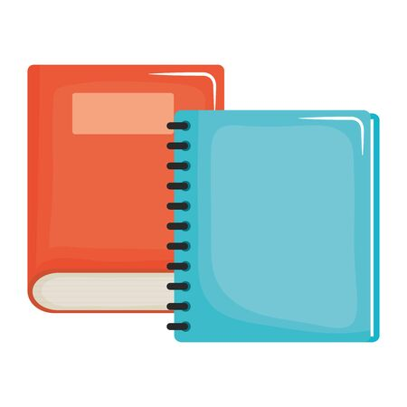 text book and notebook school supplies