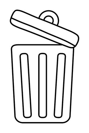 Isolated trash with top design Ilustracja