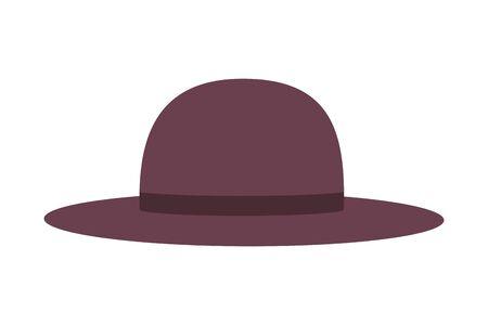 Hat design, Cloth costume accessory wear decoration uniform and object theme Vector illustration