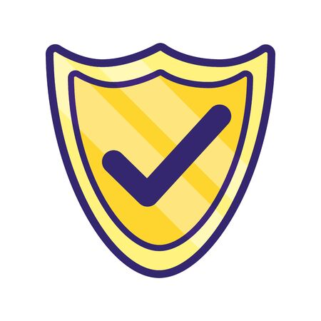 security icon shield cartoon vector illustration graphic design Ilustração