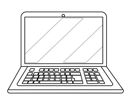 laptop icon cartoon isolated vector illustration graphic design