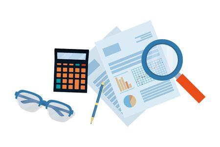 personal finance business elements cartoon vector illustration graphic design
