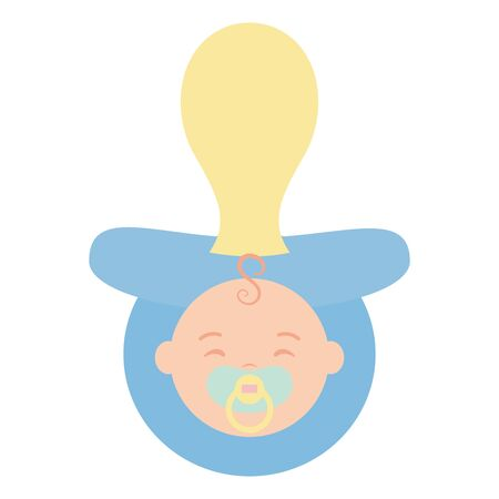 little baby pacifier accessory icon vector illustration design