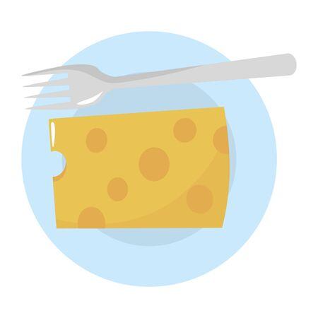 Isolated cheese design vector illustration Ilustração