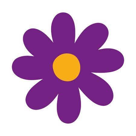 Isolated flower ornament design vector illustration