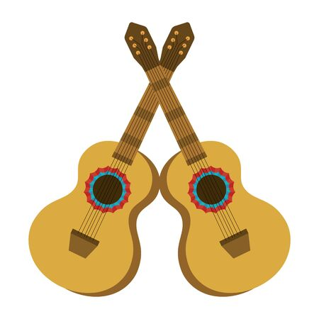 music instruments guitars cartoon vector illustration graphic design 向量圖像
