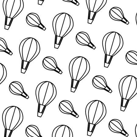 line air balloon transport fly background vector illustration Ilustração