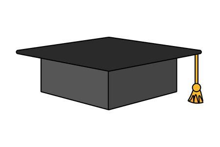 study element graduation hat cartoon vector illustration graphic design
