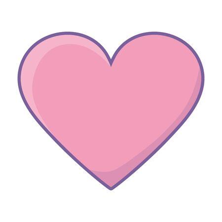 Heart shape design, Love passion romantic health wedding romance and decoration theme Vector illustration