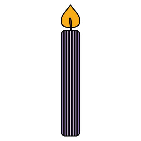 birthday candle isolated icon vector illustration design