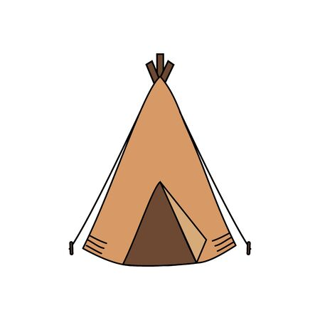 camping tent isolated icon vector illustration design Ilustração