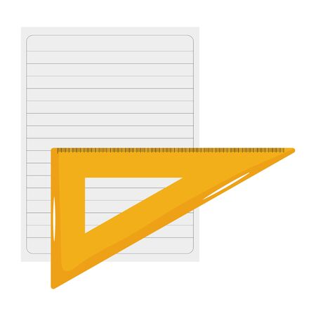 sheet of notebook paper with rule Illusztráció
