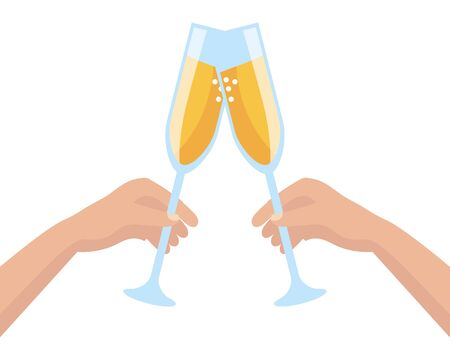 Isolated champagne cups design vector illustration