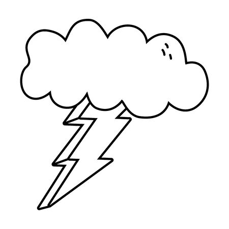 Cloud and thunder design, Weather sky nature climate cloudy season and meteorology theme Vector illustration