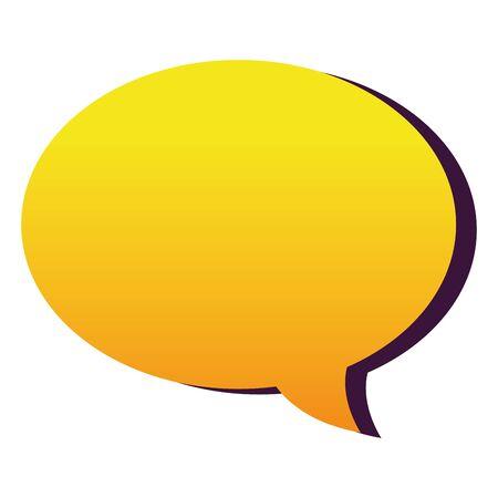 Communication bubble design vector illustration