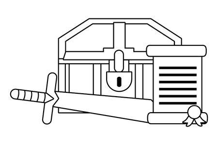 Isolated treasure chest design vector illustration  イラスト・ベクター素材