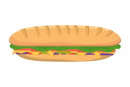 Isolated sandwich design vector illustration