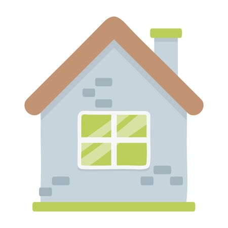 Isolated house with windows design Illusztráció