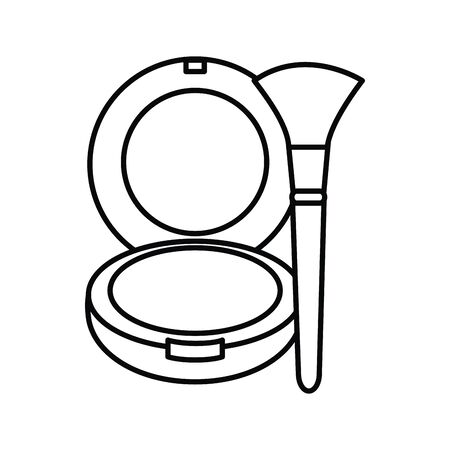 blush and brush make up drawing icon vector illustration design Stock Illustratie