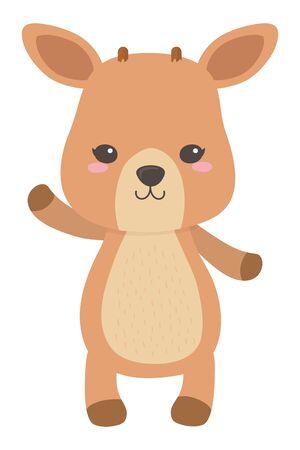 Deer cartoon design vector illustration