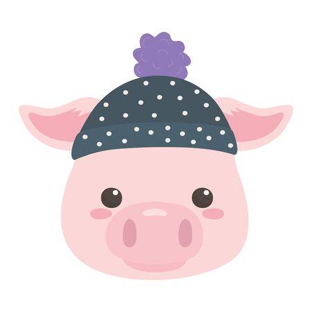 Pig cartoon design vector illustration