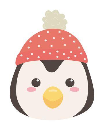 Penguin cartoon design vector illustration Ilustração