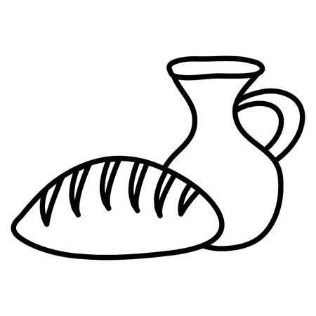 jar canteen pot with bread
