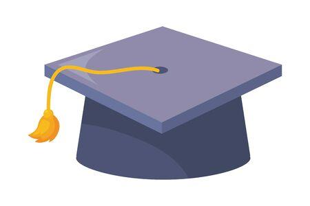 Isolated graduation cap design  vector illustration Ilustrace