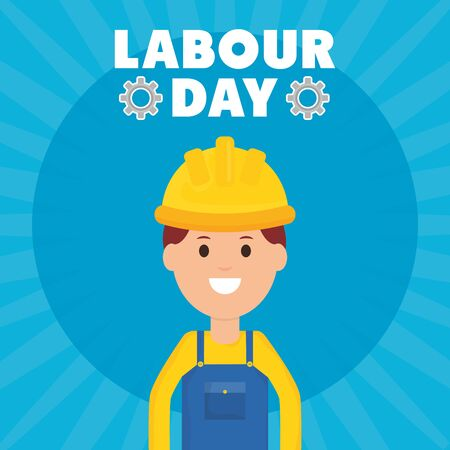builder worker with helmet