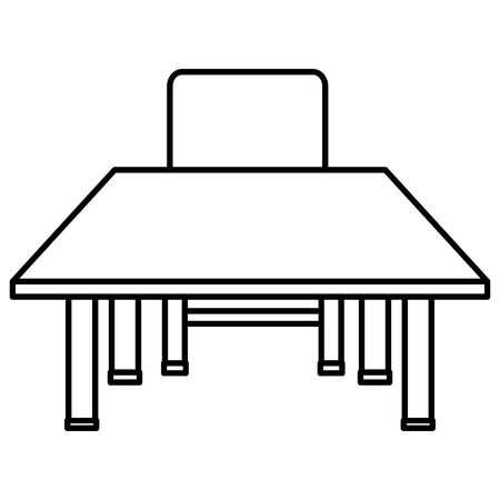 schooldesk wooden and chair icon 일러스트