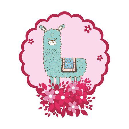 Llama cartoon design Ilustração