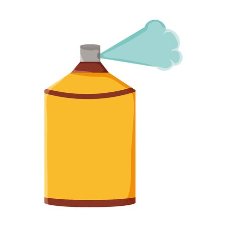 spray paint bottle isolated icon 向量圖像