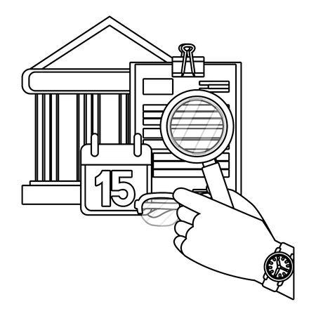 personal finance cartoon Stock Illustratie