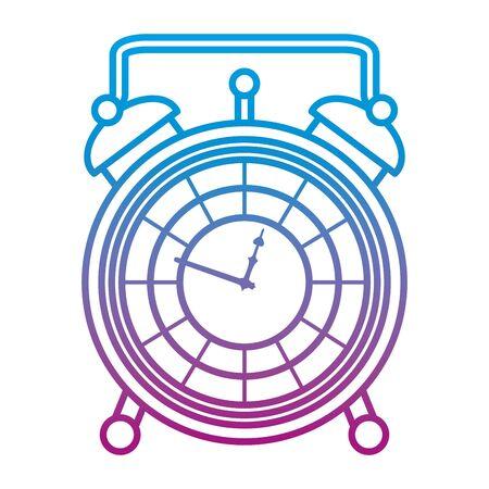 degraded line luxury desk clock object design
