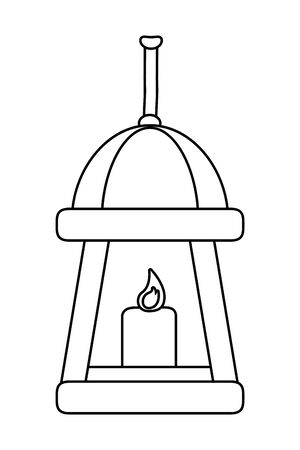 Isolated candle design vector illustration