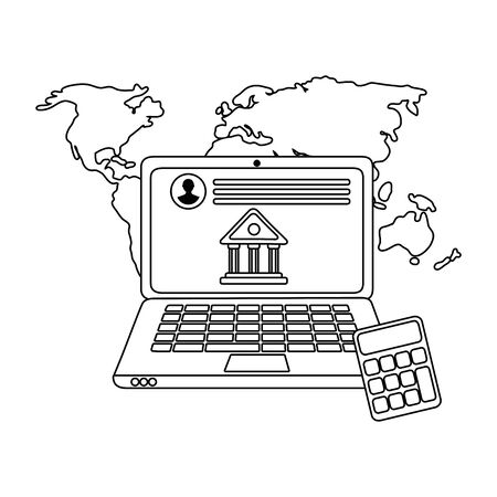 Laptop and shopping online design Иллюстрация